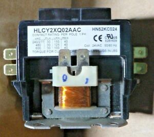 Carrier Universal Hlcy2xq02aac Hn52kc024 Contactor 2 Pole 30 Amp 460 V Coil 24v