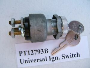 Universal 3 Terminal Ignition Switch W 2 Keys Auto Tune Pt12793b