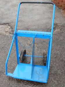 Dual Cylinder Torch Tank Hand Truck Cart With Tool Tray