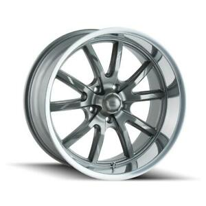 18 Ridler 650 Wheel Gray 18x9 5 5x120 65 5x4 75 0mm 650 8961g