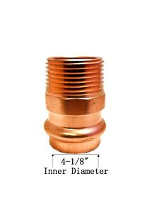 Libra Supply Lead Free 4 Inch 4 Press Copper Male Adapter Press X Mip