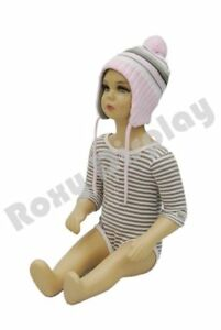 Roxydisplay trade Plastic Child Kid Baby Mannequin 6 12 Months Old Sitting