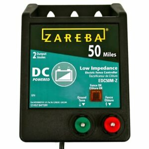 New Zareba Edc50m z 50 mile Battery Operated Solid State Fence Charger Fencing