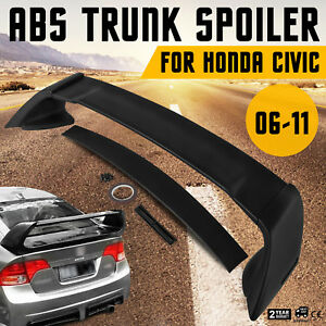 For 06 11 Honda Civic Fd2 4dr Mugen Rr Style Jdm Mug Rear Abs Trunk Spoiler Wing