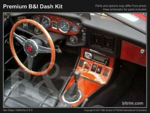 Dash Trim Kit For Mg Mgb 72 73 74 75 76 Carbon Fiber Wood Aluminum