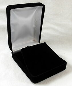 12 Black Velvet L Multi use Jewelry Presentation Gift Box Pendants Earrings Sets