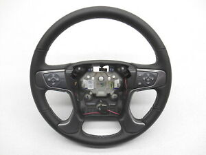 New Oem Gmc Sierra Denali Steering Wheel Black With Cruise And Menu Buttons
