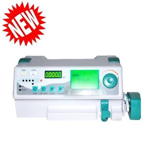 Vet human Syringe Pump Ideal For Icu Ccu Audible visual Alarm For Clinic Fda