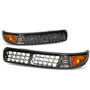 Fit 1999 2002 Chevy Silverado 1500 2500 3500hd Led Look Smoked Lens Bumper Light