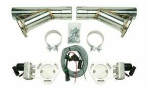 Pypes Hve10k Universal Aluminum Dual Electric Exhaust Cutout Kit W 2 5 Y pipes