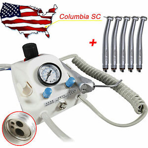 Us Portable Dental Air Turbine Unit 4h 5x High Speed Handpiece Clean Head Yi2q
