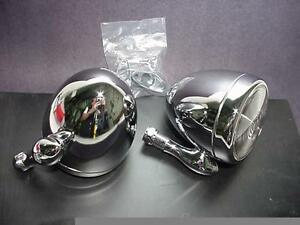 Chrome Dummy Spotlights With Brackets And Pads 1 Pair