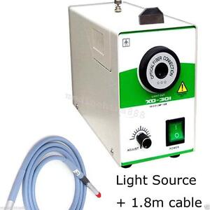 Ce 150w Single Halogen Cold Light Source Fiber Cable 4mmx1800mm Surgical Tool