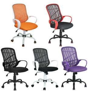 Adjustable Mid back Mesh Office Swivel Task Chair Computer Chair Multiple Colors