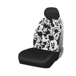 New Disney Mickey Mouse Expression Car Truck Front Seat Cover Headrest Cover