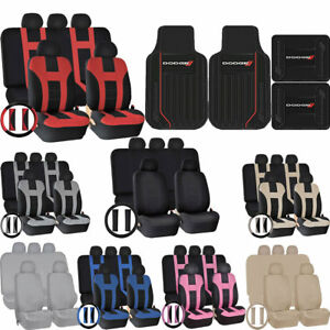 Front Rear Floor Mats Uaa Seat Covers Steering Universal Set Car Suv For Dodge