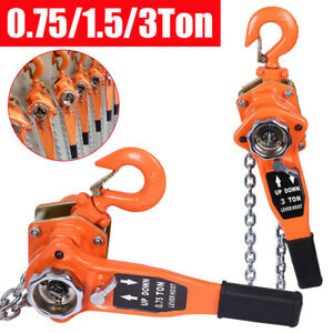 0 75 1 5 3ton Chain Puller Block Chain Hoist Hand Tools Lifting Chain W Hook Us