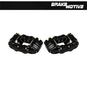 Front Black Brake Calipers For Toyota 2001 2007 Sequoia 2000 2006 Tundra