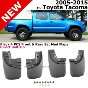 Splash Guards Full Set Front Rear 2005 2015 Toyota Tacoma Mud Flaps Full Kit