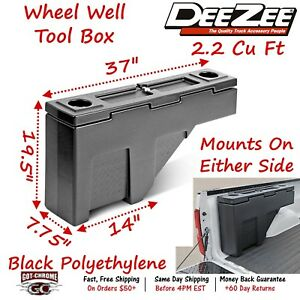 Dz 95p Dee Zee Tool Box Poly Wheel Well Box Plastic Full Size Truck