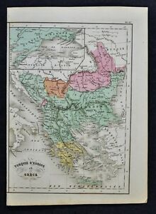 1858 Delamarche Map Turkey In Europe Greece Constantinople Athens Balkans