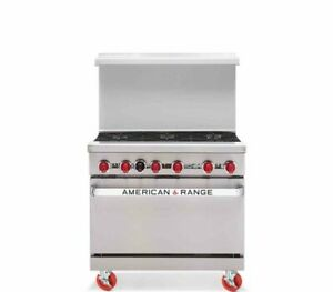 American Range Ar 6 Six 6 Burners Stove One Standard Oven Natural Gas New