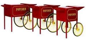 One Rolling Cart Stand For 4 Oz Paragon Fair Popcorn Machine Popper Concession