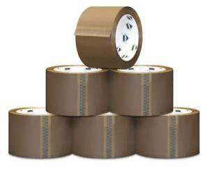 120 Rolls Tan Packaging 1 8 Mil Packing Moving Box Carton Sealing Tape 3 X 110