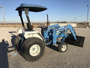 Ford 1720 Diesel Tractor With 7108 Front End Loader Sun Shade Suspension Seat
