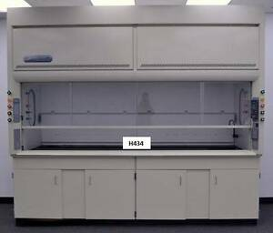 Labconco Laboratory Chemical Protector 10 Fume Hood With Base Cabinets Used
