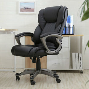 New Pu Leather High Back Office Chair Executive Task Ergonomic For Computer Desk