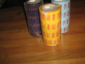 Lot Of 12 Rolls Official Ebay Branded Purple Blue Yellow 2 Packaging Tape