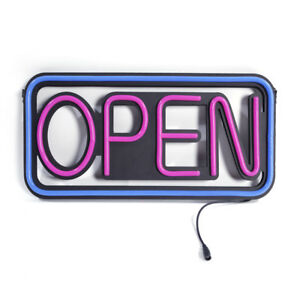 Modern Horiaontal Neon Open Sign Light Opensign Reataurant Business Bar Bright
