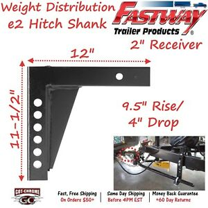92 02 4214 Fastway Trailer E2 Weight Distribution 12 Hitch Shank With 10 Rise