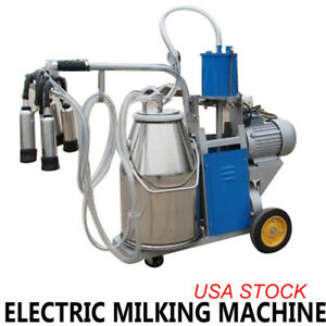 Electric Milking Machine 25l Bucket Milker For Dairy Farm Goats Cows Cattle Ups