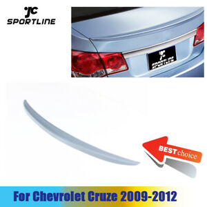 Unpainted Rear Trunk Spoiler Boot Wing Lip Fit For Chevrolet Chevy Cruze Sedan