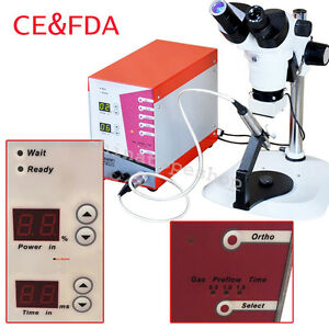 Dental Argon arc Spot Jewelry Weld Welding Unit Machine W Stereo Zoom Microscope