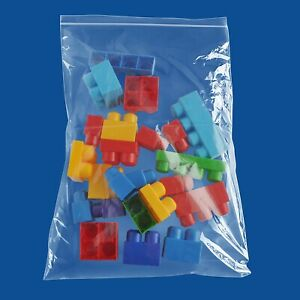 100 14 x20 Ziplock Bags 2 Mil Zip Plastic Poly Reclosable Clear Small Bags