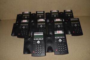 Polycom Soundpoint Ip 335 Ip335 Lot Of 10 Voip Telephones W 10 Handsets 4