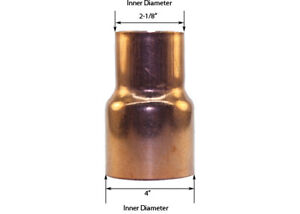 Libra Supply 4 X 2 Inch Copper Coupling Bushing Fitting Reducer Ftg X C
