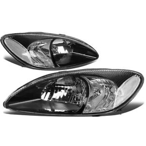 Fit 00 07 Ford Taurus Pair Black Housing Clear Corner Oe Style Headlight Lamps