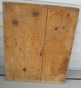 Antique Wooden Bread Board With Baker End Handles Nice Size Patina