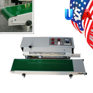Automatic Horizontal Continuous Plastic Bag Band Sealing Sealer Machine usa