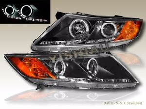 For 11 2013 Optima Sedan Ccfl Halo Projector Headlights With Led R8 Style Strips