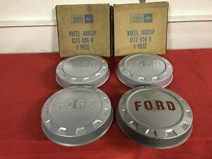 Nos 61 66 Ford Truck F250 Hubcaps C1tz 1130 B Fomoco