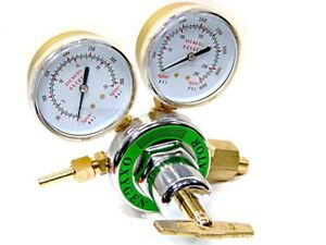 New Oxygen Gas Welding Regulator Pressure Gauge Victor Type Solid Brass Cga 540