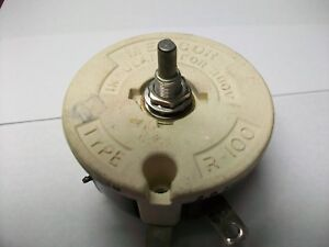 Memcor 25 Ohm 100 Watt Rheostat 1 2 Shaft