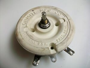 Ohmite 200 Ohm 100 Watt Rheostat 1 2 Shaft