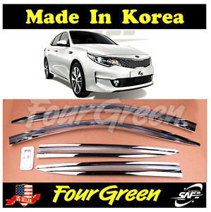 Chrome Window Sun Vent Visor Rain Guards For Kia 2016 2020 Optima K5