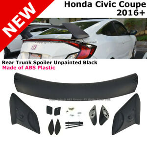 For 16 18 Honda Civic Coupe 2dr Rear Trunk Wing Spoiler Type R Style Body Kit